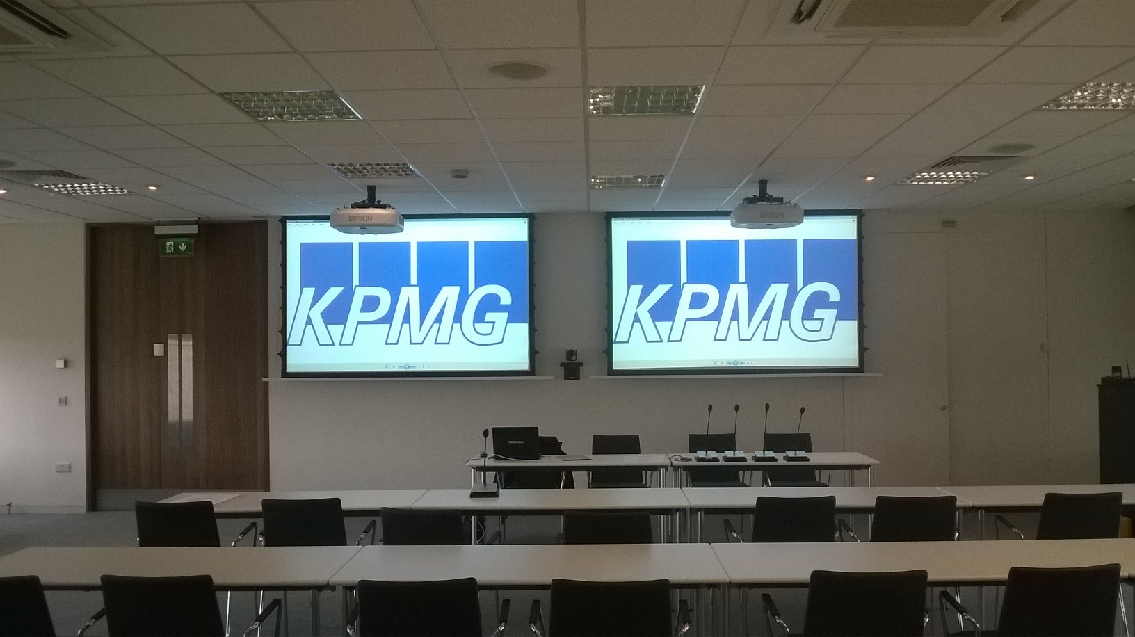 Audio Visual Solution for KPMG. Creston Products by Meritec